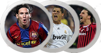 Messi, Ronaldo and Zlatan Ibrahimovic